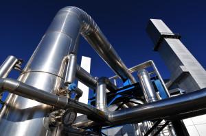 tubazione di centrale di cogenerazione